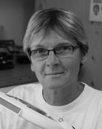 Sybille Nehring Portrait, Schwarzweißfoto