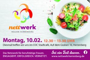 nettwerk Mittagessen am 12. Februar 2020 im Café COC, Herrenberg